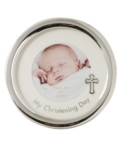 My Christening Day Round Frame 3x3