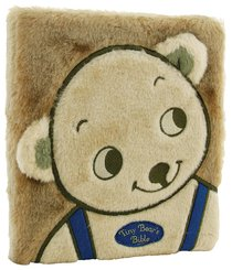 tiny bear  bible blue