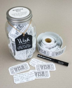 wish jar wedding day