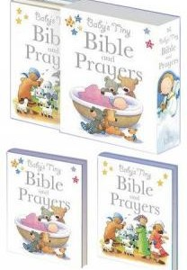 Babys tiny bible and prayers