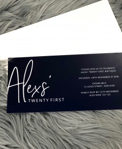 Birthday Invitation Alex