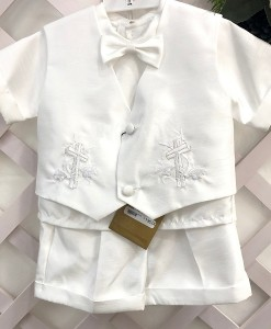 Boys Embroidered Short set 3