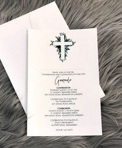 Christening Invitation Giancarlo
