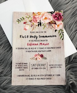 Communion Invitation Liliana