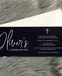 Communion Invitation Oliver