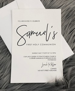 Communion Invitation Samuel