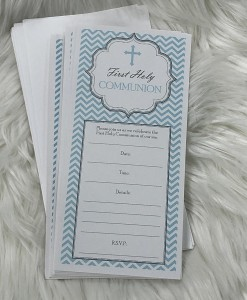 Communion invite blue zag
