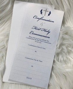 Confirmation & Comm Invite Navy