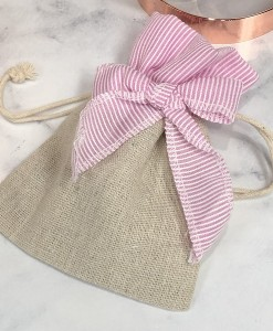 Hessian Bag pink