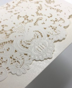 Laser cut invite ornate 2