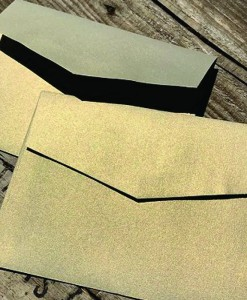 MEtallic Gold Leaf C6 Envelopes