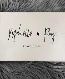 Personalised-guest-book-Michelle-&-Ray