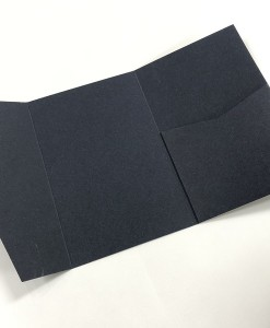 Pocket invitation 5x7 Navy