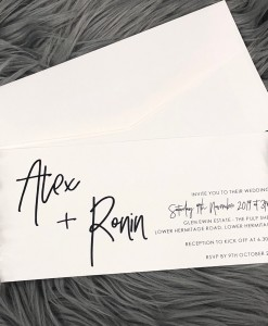 Wedding Invitation Alex & Ronin L