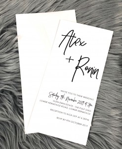 Wedding Invitation Alex & Ronin P