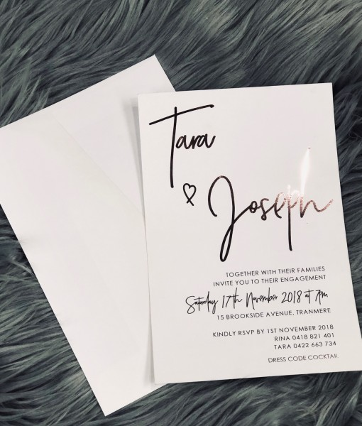 Wedding Invitation Tara & Jospeh
