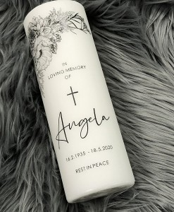 angela memorial candle