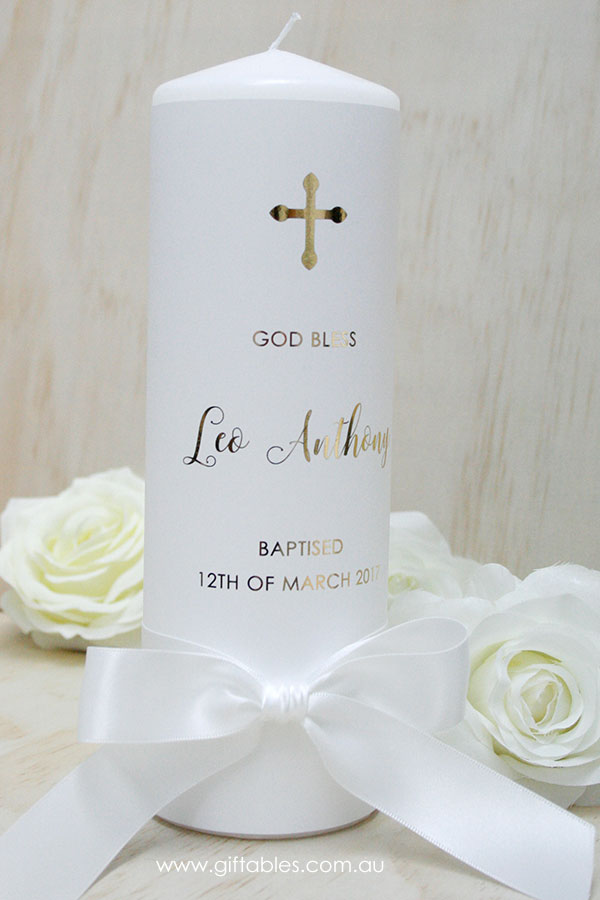Personalised Baptism Box Set Gold Foiled Giftables
