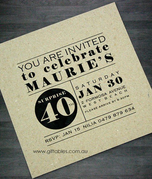 Birthday invitation modernism recycled giftables birthday invite modernism recycled filmwisefo