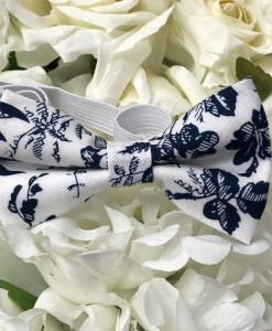 bow tie navy floral