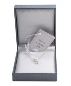 christening necklace cross