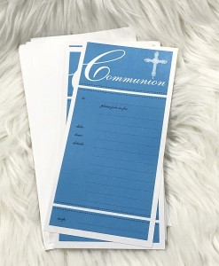 communion invite blue