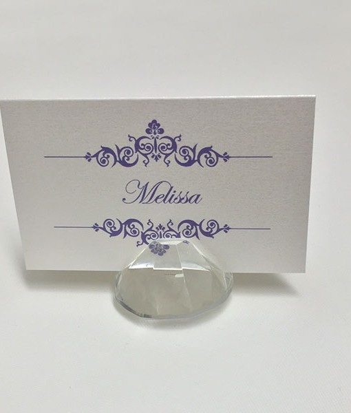 crystal-place-card-holder