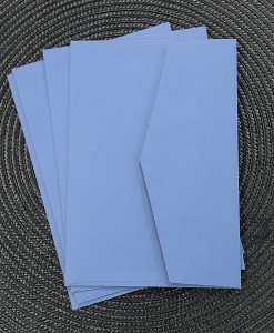 envelope 5x7 china blue