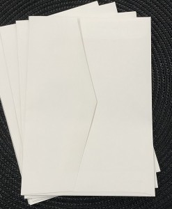 envelope 5x7 marshmallow white