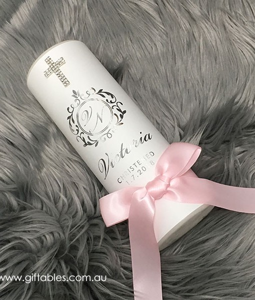 foiled-christening-candle-victoria