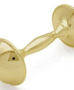 gold baby rattle