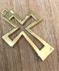 gold metal cross