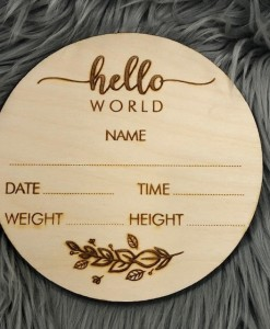 hello word wooden sign 1