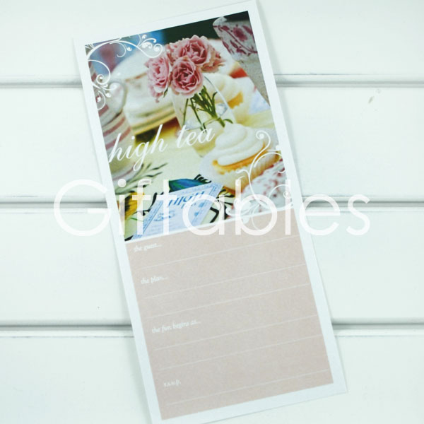 high tea invitation giftables