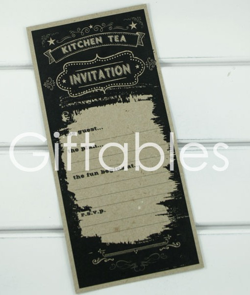 kitchen tea rustic invitation giftables