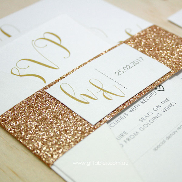 love letters glitter invitation giftables