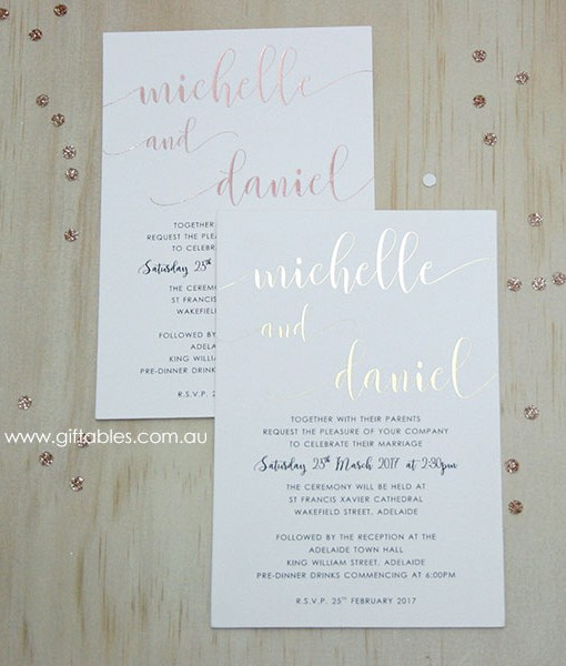 love note foiled invitation 5x7 giftables
