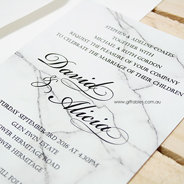 marble 5x7 invitation giftables