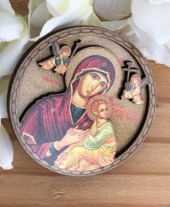 orthodox round icon magnet