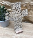 our father cross plaque