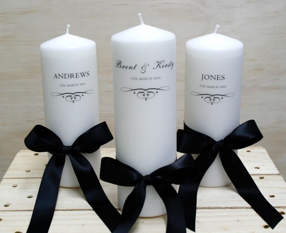 personalised candles giftables