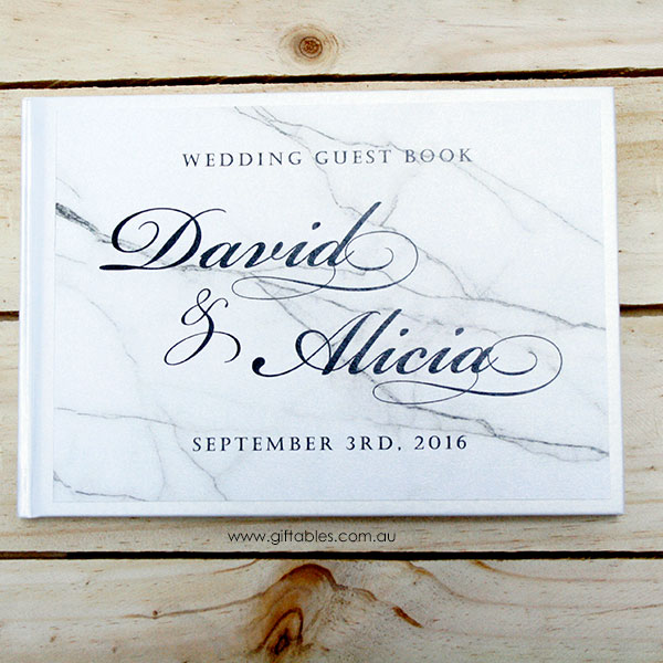 Personalised Guest Book Marble Giftables
