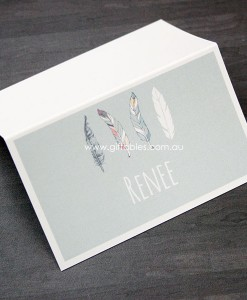 place-cards-boho-feathers