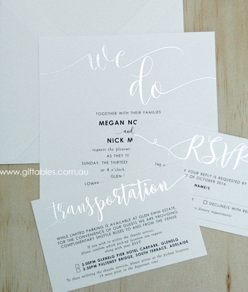 we do foiled square invitation giftables