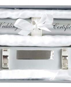 wedding certificate holder hearts with stand